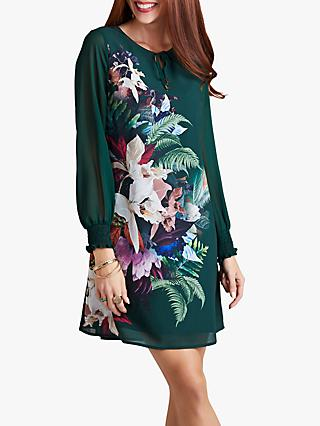 Yumi Botanical Fern Print Tunic, Green