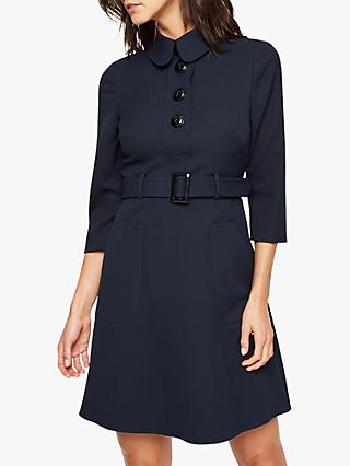 Damsel in a Dress Adie Button Detail Dress, Navy