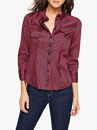 Damsel in a Dress Caleigh Stripe Shirt, Navy/Red