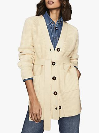 Reiss Ivette Cotton Wool Blend Cardigan