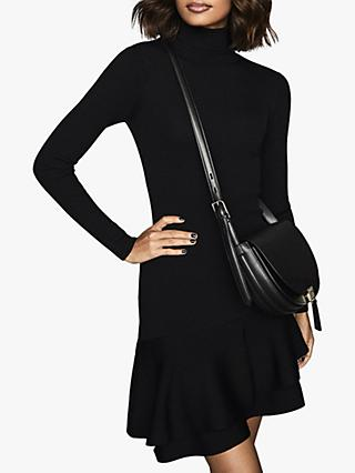 Reiss Finn Ruffle Hem Knitted Dress