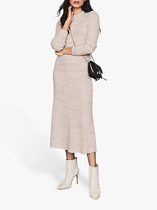 Reiss Suri Co-Ord Knitted Jumper, Pink