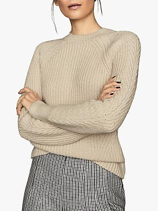 Reiss Aisling Chunky Cotton Jumper