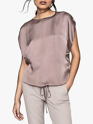 Reiss Maggie Hammered T-Shirt, Lilac