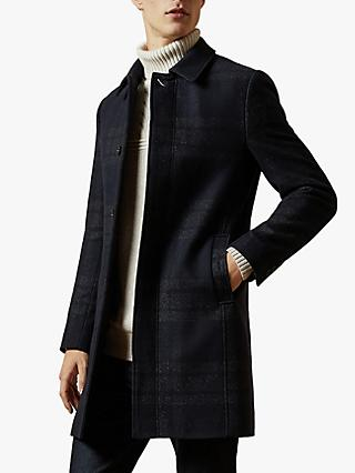 Ted Baker Dudno Oversized Check Overcoat