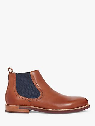 Ted Baker Secainl Leather Chelsea Boots, Brown