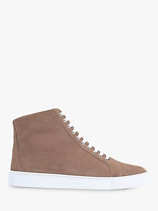 Mint Velvet Freya Suede High Top Trainers, Light Pink