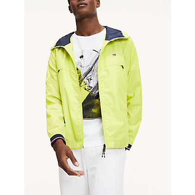 Tommy Jeans Lightweight Hodded Jacket, Lemon Lime