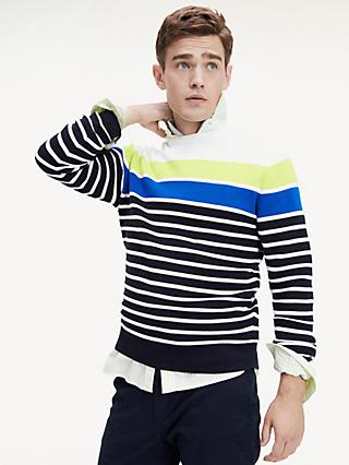 Tommy Hilfiger Colour Block Breton Stripe Sweater, Ecru