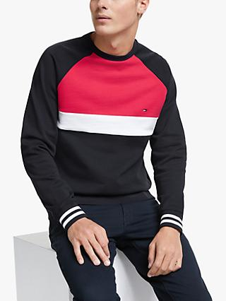 Tommy Hilfiger Colourblocked Sweatshirt, Desert Sky/Multi