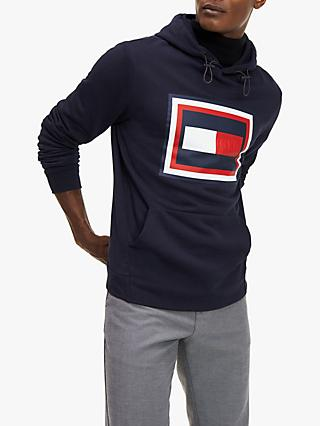 Tommy Hilfiger Embossed Cotton Hoodie, Desert Sky