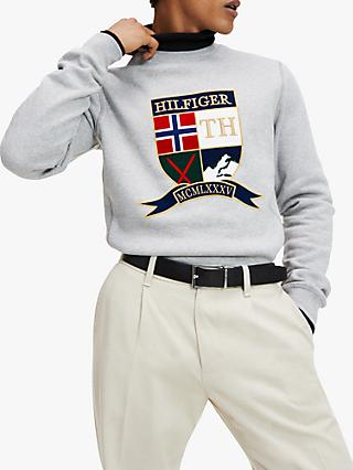 Tommy Hilfiger Shield Artwork Sweatshirt, Cloud Heather