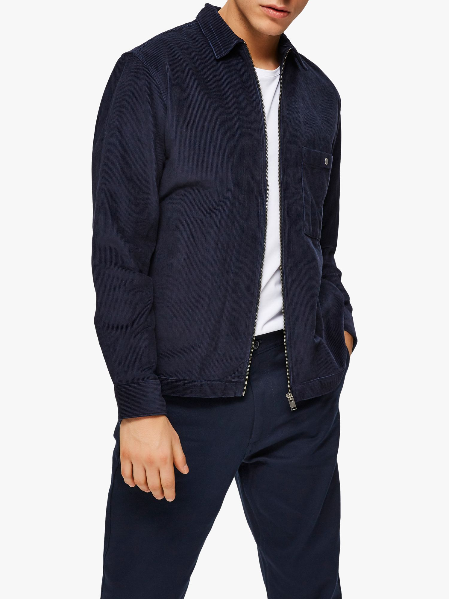 Selected Homme SELECTED HOMME Corduroy Overshirt, Sky Captain