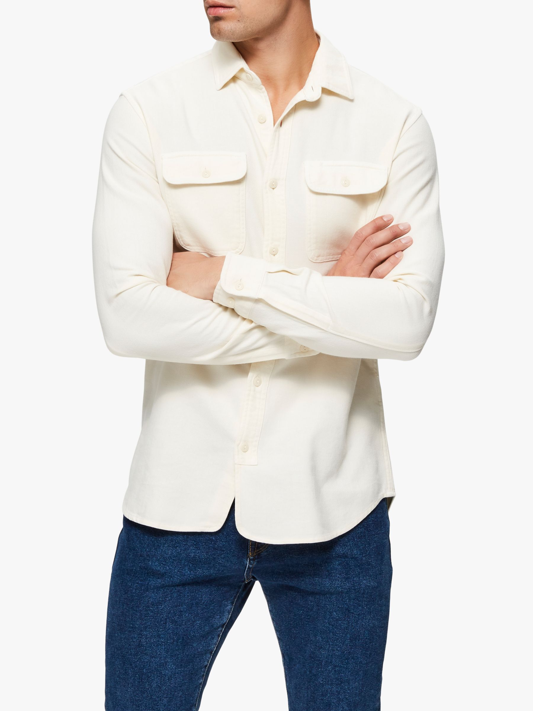 Selected Homme SELECTED HOMME Jackson Cotton Shirt, Bone White