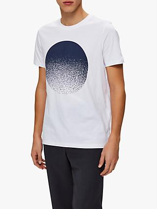 SELECTED HOMME Graphic Print Cotton T-Shirt, Bright White