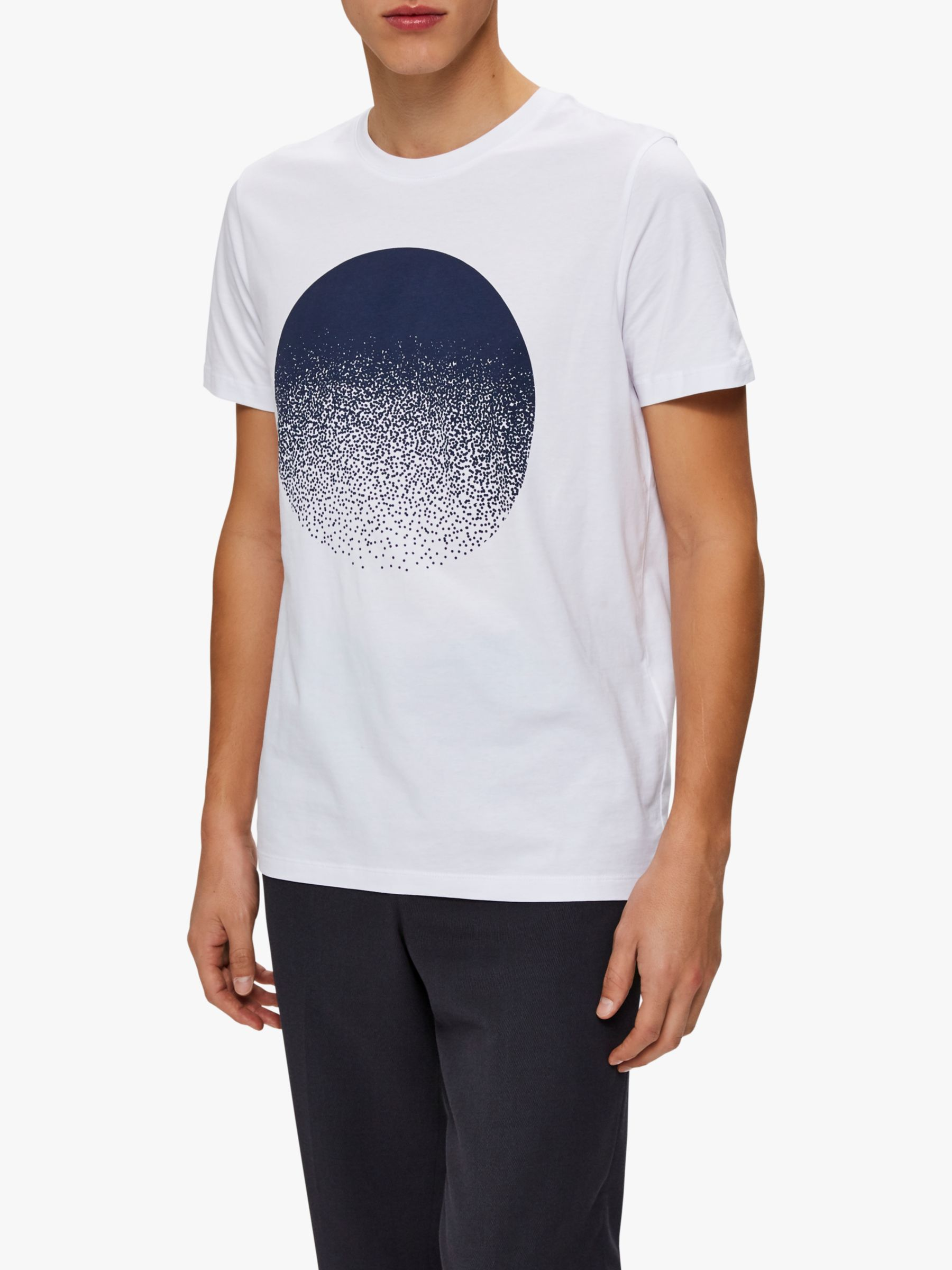 Selected Homme SELECTED HOMME Graphic Print Cotton T-Shirt, Bright White