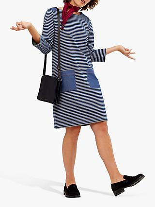 White Stuff Albie Stripe Dress, Blue