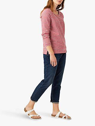 White Stuff Sally Stripe Top, Sugar Pink Stripe