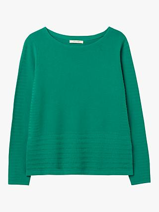 White Stuff Ripple Jumper, Graphic Green