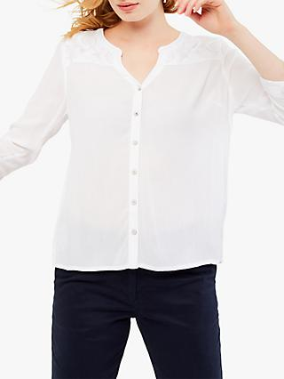 White Stuff Lobelia Embroidered Shirt, White
