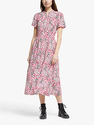 Somerset by Alice Temperley Orchid Animal Print Shirt Dress, Pink/Multi