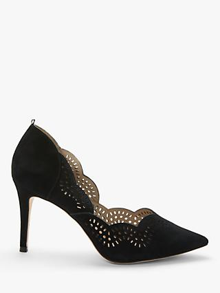 Boden Esme Suede Court Shoes, Black