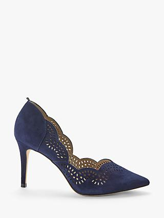 Boden Esme Suede Court Shoes, Navy