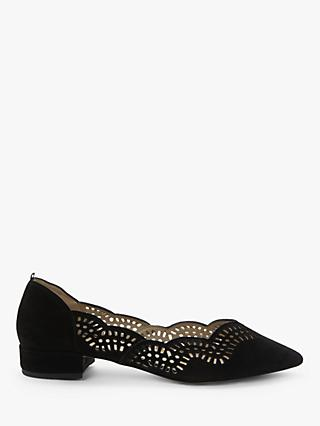 Boden Esme Suede Low Court Pumps, Black