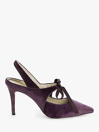 Boden Katrina Velvet Slingback Court Shoes