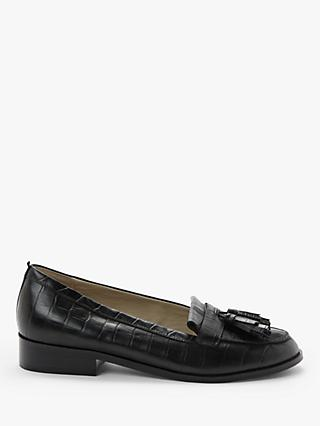 Boden Peggy Croc Leather Loafers