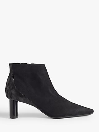Jigsaw Alda Leather Smart Ankle Boots, Black
