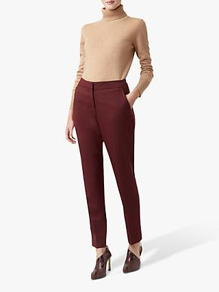 Hobbs Gael Tapered Trousers, Bordeaux