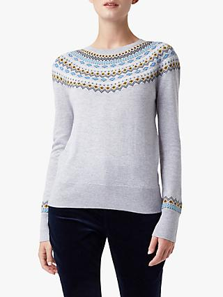 Hobbs Greta Fair Isle Wool Blend Jumper