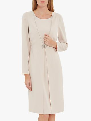 Gina Bacconi Sedona Coat Dress With Brooch