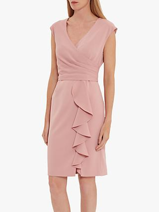 Gina Bacconi Inona Ruffle Dress, Soft Rose
