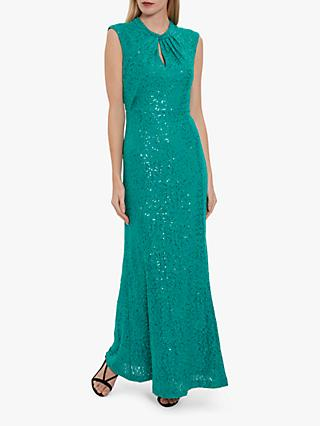 Gina Bacconi Jovanna Sequin Lace Maxi Dress