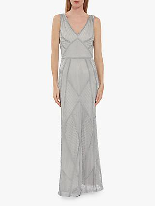 Gina Bacconi Kelina Beaded Maxi Dress