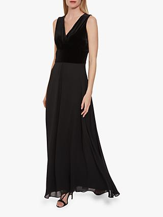 Gina Bacconi Eartha Velvet Chiffon Dress