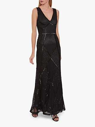 Gina Bacconi Kelina Beaded Maxi Dress