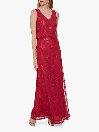 Gina Bacconi Drea Beaded Maxi Dress