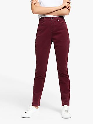 Collection WEEKEND by John Lewis Slim Cord Trousers, Burgundy