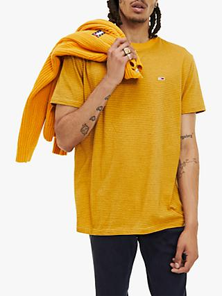 Tommy Jeans Overdyed Stripe T-Shirt, Golden Glow
