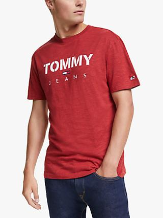 Tommy Jeans Textured Tommy T-Shirt, Racing Red