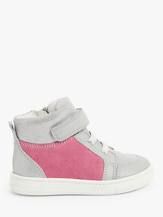 John Lewis & Partners Children's Colourblock High Top Pre-Walker Trainers