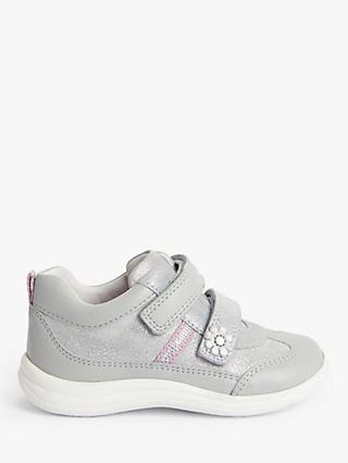 John Lewis & Partners Children's Sparkle Pre-Walker Trainers, Silver