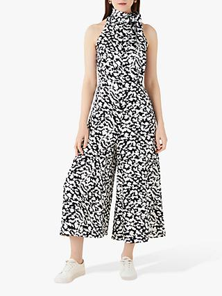 Finery Maryon Abstract Print Jumpsuit, Black/White