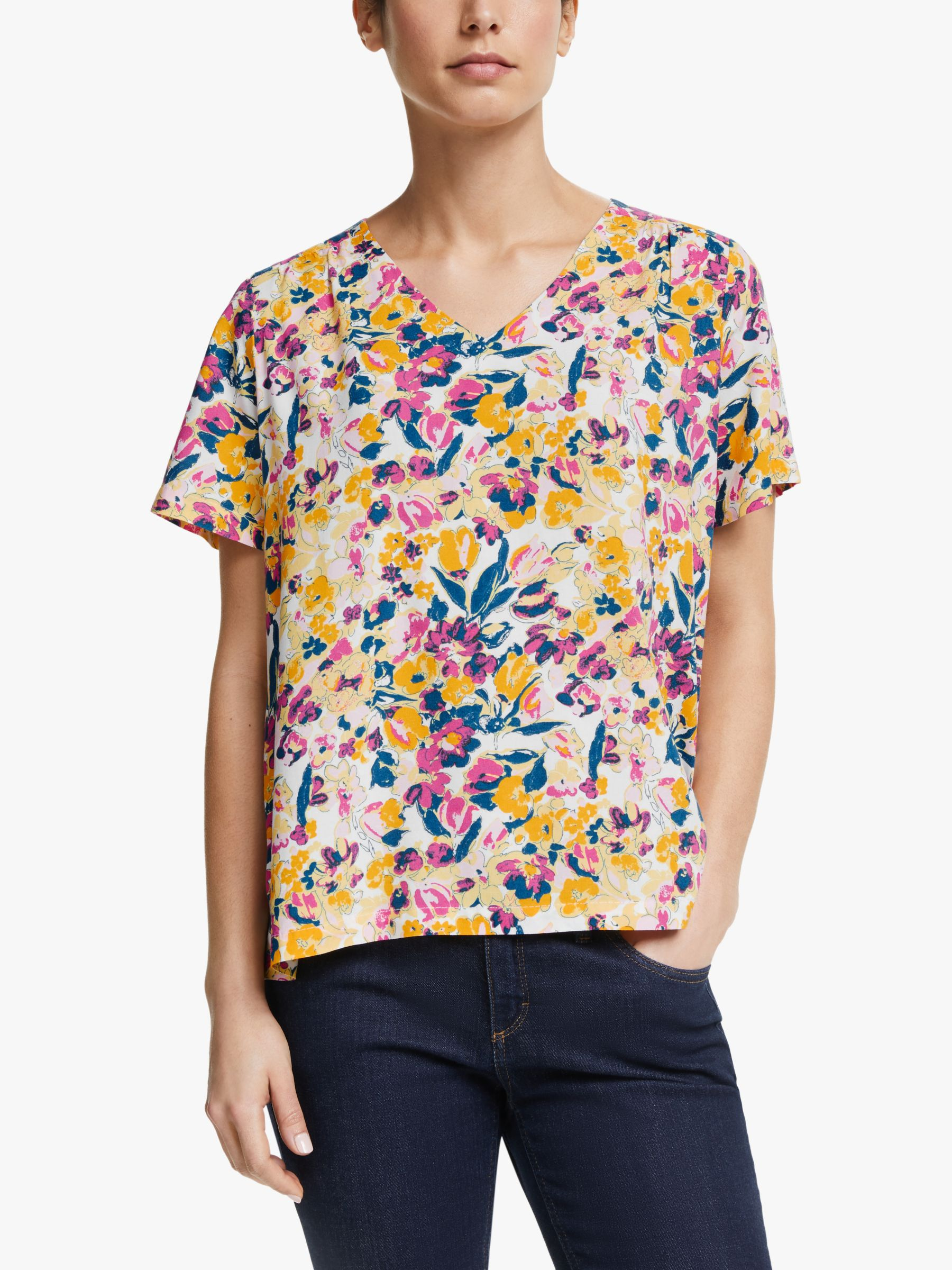 Collection WEEKEND by John Lewis Collection WEEKEND by John Lewis Albi V-Neck Floral Top, Multi