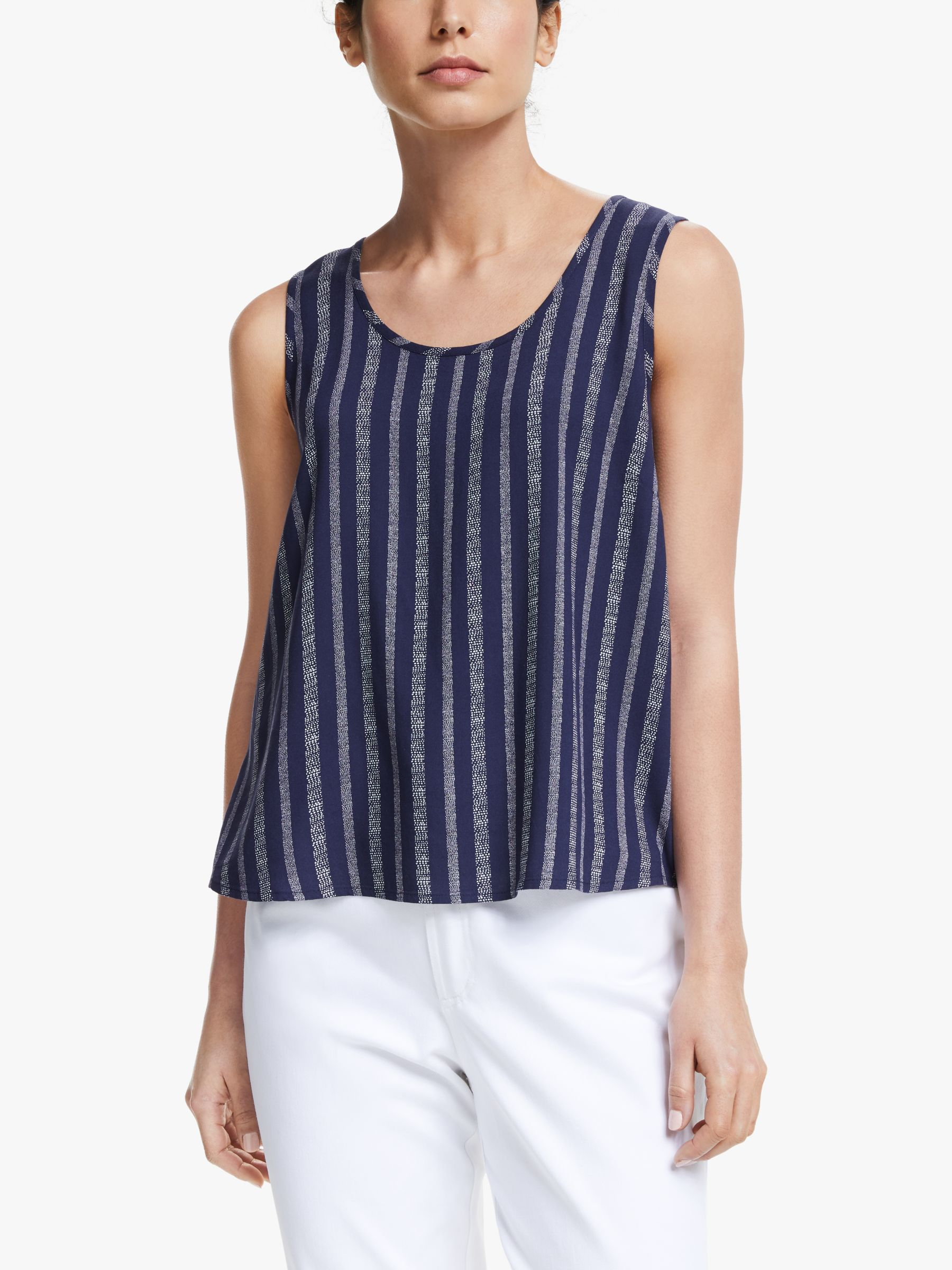 Collection WEEKEND by John Lewis Collection WEEKEND by John Lewis Stripe Sleeveless Top, Navy/White