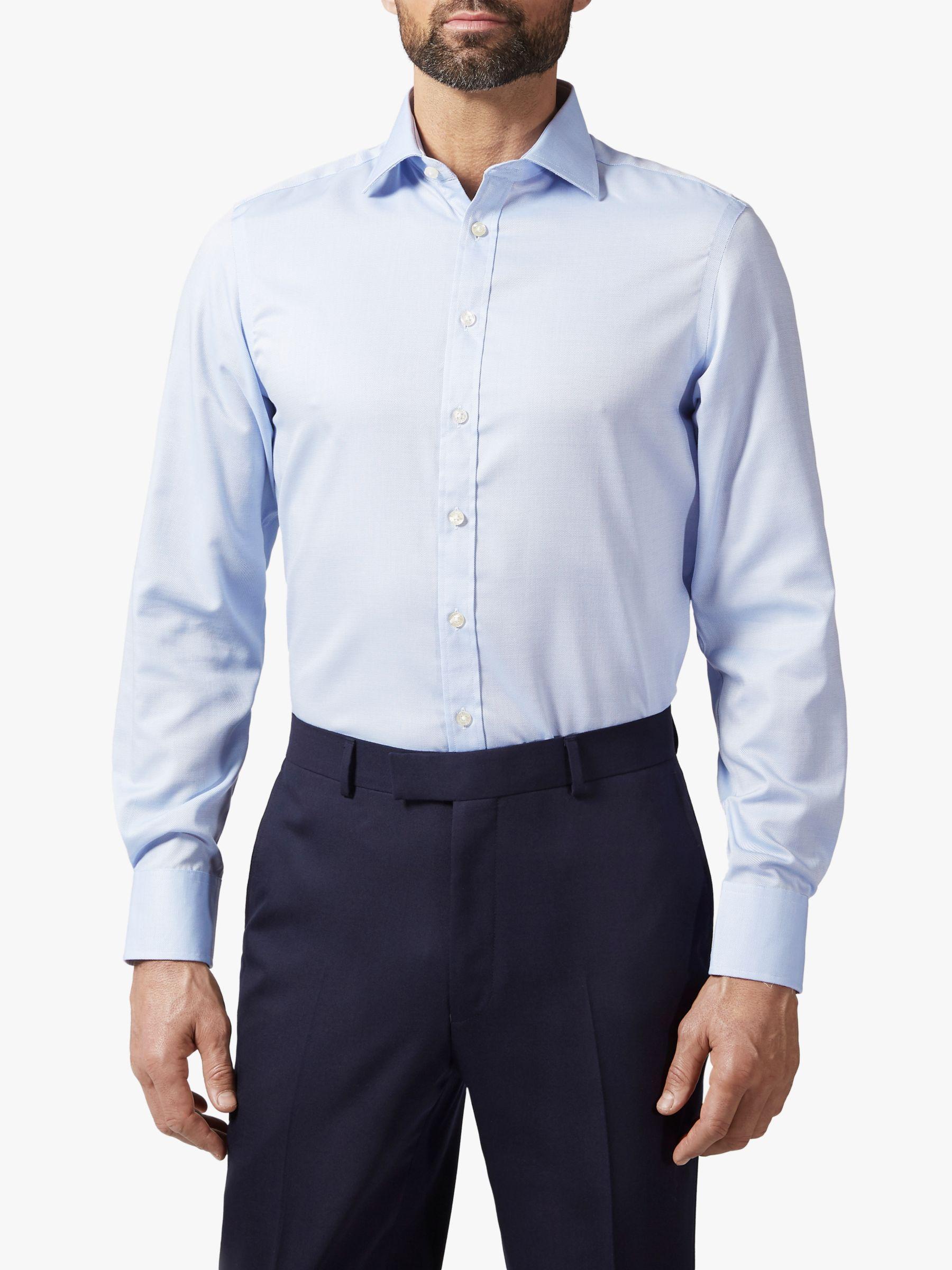 Chester by Chester Barrie Chester by Chester Semi Plain Shirt, Blue