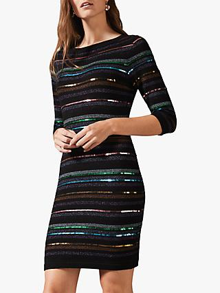 Phase Eight Jesse Sequin Dress, Multi